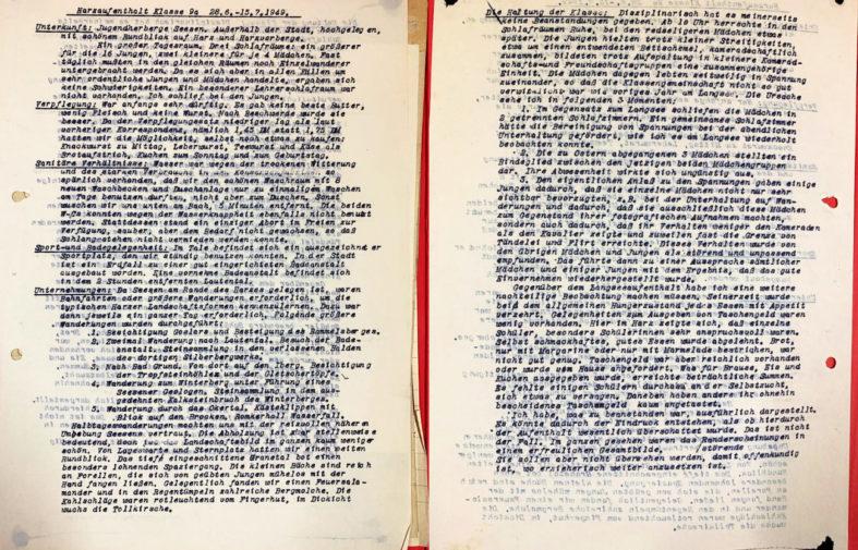 """Aus dem Schularchiv: """"Klassenreise in den Harz"""". (Akte 1948)"""